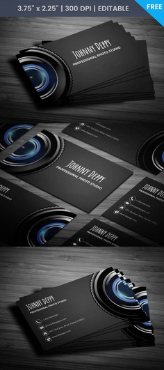 Free Unique Photography Business Card Template