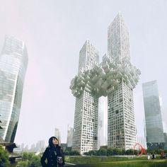 MVRDV: the cloud #architecture #mvrdv #skyscraper #the cloud