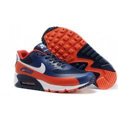 Nike Air Max 90 Shoes Hyperfuse Prm Mens Dark Red