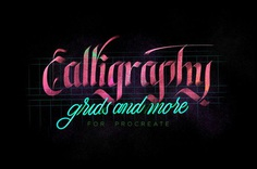 Calligraphy,Grids & more for Procreate