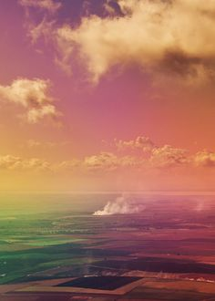 Field #landscape #rainbow
