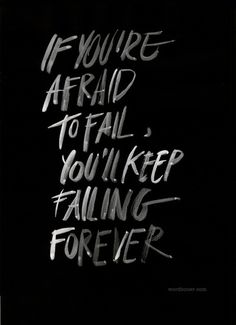 failingforever Art Print by WRDBNR #quote #print #poster #typography