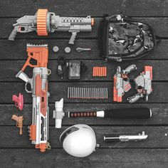 Battle Gear // Toy Guns, #Nerf, #Isometric #Photograph