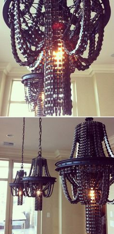 (4) bike chain | Tumblr #interior #bicycle #upcycling #chain #bike #chandelier