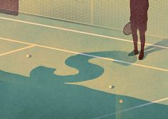 Tennis #illustration #texture