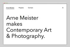 Arne Meister #website #layout #design #web