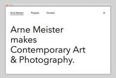 Arne Meister #website #layout #design #web