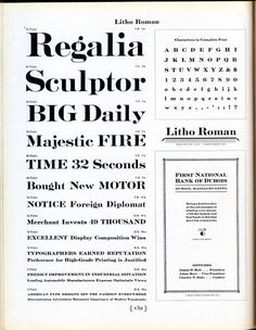 Litho Roman was developed in 1907 by Inland Type Foundry. At least eight variations followed. According to Mac McGrew the design imitated a #typography