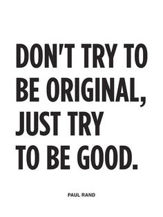 Just Try To Be Good #quote #print #wisdom #neuegraphic #poster #typography