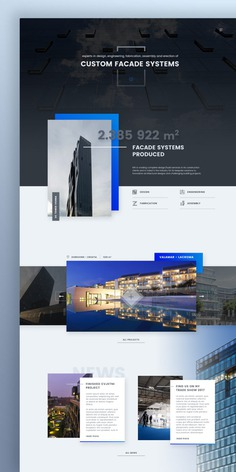 Facade Systems Landing Page