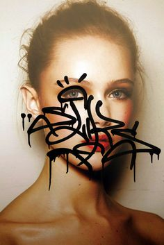 13 #graffiti #women #portrait #people