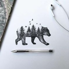 Black Pen Illustrations