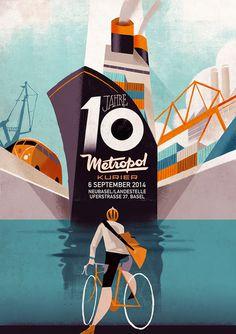 Metropol Kurier by Riccardo Guasco on Behance #ship #boat #riccardo #art #guasco #deco