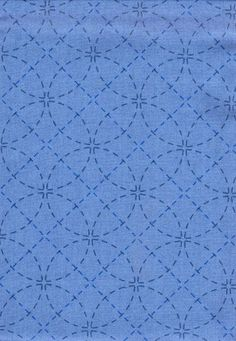 http://www.shiboridragon.com/Sashiko/Fabric/SevenTreasures-Blue.jpg #even treasures #patterned fabric