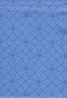 http://www.shiboridragon.com/Sashiko/Fabric/SevenTreasures-Blue.jpg #even treasures #patterned fabric