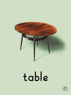 table Art Print by Ladybird Books Easyart.com #print #design #retro #artprints #vintage #art #bookcover
