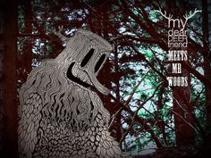 My Dear Deer Friend meets mr. Woods on the Behance Network #dear #diploo #deer #woods #my #friend #drawing