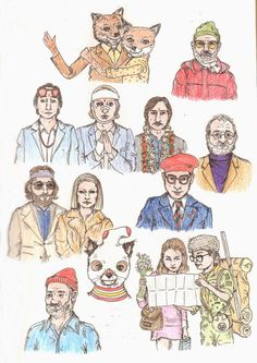 Ruby Tulips, Sketches of Wes Anderson Movies #sketches #illustration #wes #anderson