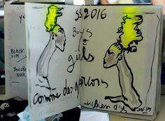 Julien d'Ys sketches for Comme des Garçons Homme Plus SS16