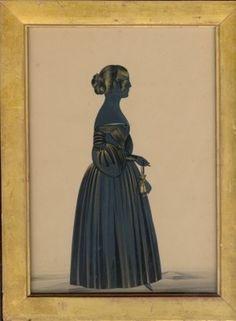 Wigs on the Green - Portrait Miniatures, Silhouettes & Portraits - Antique Silhouettes #victorian #profile #portrait #silhouette
