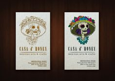 Casa d' Honey arts & crafts on the Behance Network #branding #business #card #print #design #illustration #identity #art #logo