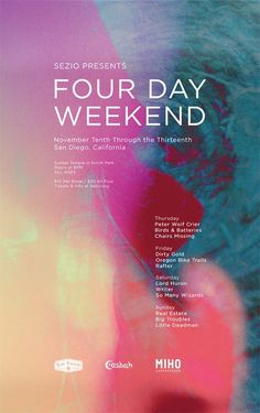 Sezio poster Four Day Weekend #design #graphic #poster