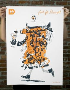 Hyperakt » Work » Hyperakt » Food for Thought Poster / Bench.li #plakat #print #poster #illustration