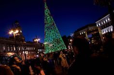 10 Christmas art eco tree Green cone in Madrid Spain #christmas #trees #art #tree