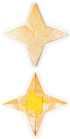 How to make a 2D four-pointed origami star (http://www.origami-make.org/howto-origami-star.php)