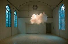 It's Nice That : Berndnaut Smilde #clouds #weather #installation #nature #art #blue