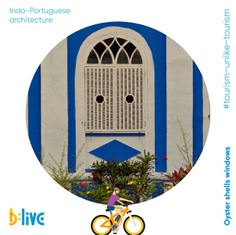 Goa is home to homes that have rich cultural influence reflecting Indo-Portuguese architecture. Oyster shells windows of old Goan houses would keep them cool. Light would still pass through the shells, giving the houses a special well-lit ambience throughout the day. Take a journey back in time with b:live. Call or WhatsApp at 📞+91 86696 00373 or visit us at blive.co.in to book a tour with us. #letsblive #funoverfuel #worldtourismday #tourismunliketourism #goabeyondbeaches #travel #instatravel #instagoa #wanderlust #fun #ev #ecotourism #eco #tours #ThoughtfulThursday #ebikes #discovery #goavibes 🌴 #goatourism #goaindiatravel