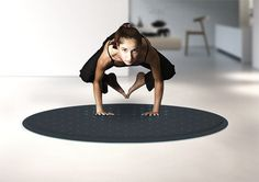 Transform home fitness with an interactive LED exercise mat that doubles as a stylish living room rug!