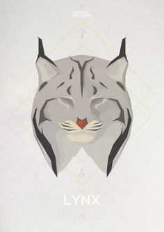 Big Cats - Hadrien Degay Delpeuch #vector #cat #paper #illustration #minimal #lynx #animal #bobcat #8bit