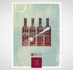CHARLESTON_WINE_FOOD_POSTER_2010 #wine #window #fork #poster