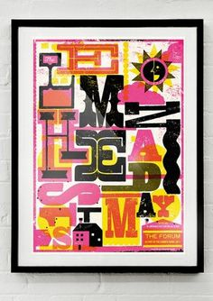 THE LEMONHEADS - FORUM | Telegramme #telegramme #screenprint #studio #poster