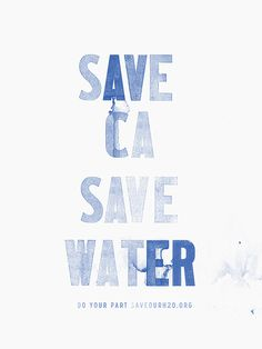 save water california drought poster