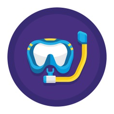 See more icon inspiration related to dive, travel, sea, diving mask, sports and competition, hobbies and free time, snorkel, diving, summertime, mask, fashion, sports and holidays on Flaticon.