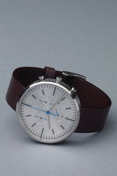 300 Series (Brushed Steel / Mahogany Leather) | Uniform Wares