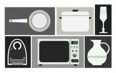 Esteve Padilla ➽ ohhh.ws #padilla #esteve #vectors #design #utensils #illustration #kitchen #poster