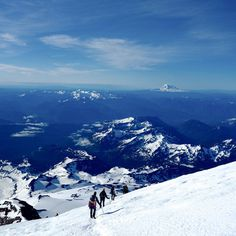 CJWHO ™ (Climbing the Volcano Mount Rainier 14,410...) #photography #landscape #view #volcano #amazing #maunt rainier