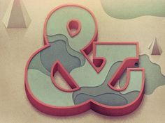 Beautiful Type — Another beautiful ampersand, in a different style,... #type #justin mezzell #ampresand