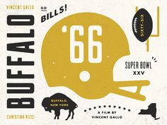 Buffalo_66_detail #illustration #football #buffalo