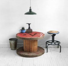 Patent Pending Projects: Cable Spool Table Project #repurposed cable spool