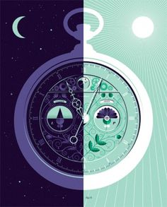 Lab Partners #clock #illustration