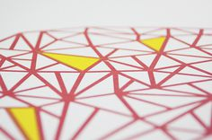 screen print meganprycedesigns.com #red #design #screenprint #yellow #geometric #screen #illustration #silk