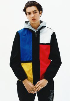 Supreme Spring/Summer 2016 Color Blocked Track Jacket Sean Pablo