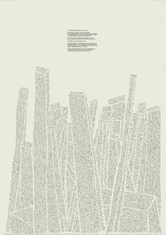 Sam Winston : Made Up True Story #typography #screen print #graphic poetry