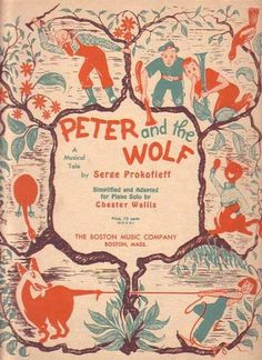 Bamboo Trading: Peter and the Wolf 1946 Sheet Music Book, Vintage Sheet Music