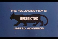 limited admission | Flickr - Photo Sharing! #rating #movie #title #panther #scene #film #type