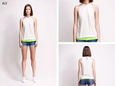 asu aksu / collections / ss2012 borderline no 21 #asu #white #collection #aksu #borderline #summer #fashion #neon